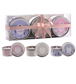 Fragranced Candles (3 X Fragranced Candles(Rose, Lavender, Magnolia)