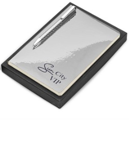 Prestige One Gift Set – Silver Includes A5 Notebook & Pen