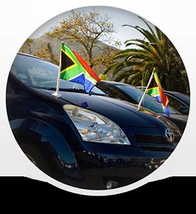 South African car Flags, car Flags