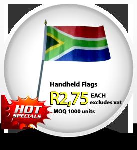 SA hand flags, holding flags