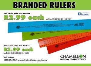 branded rulers, printed rulers. Special