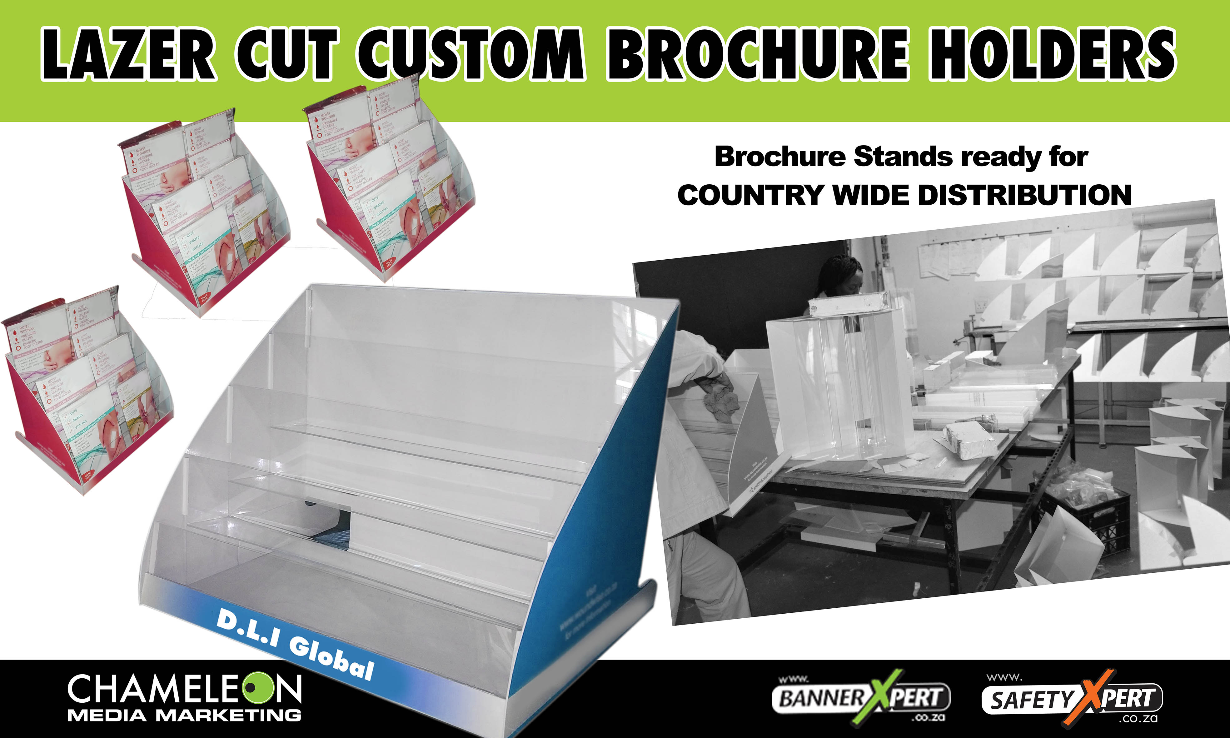 Exhibition Stand Manufacturers South Africa : Brochure holders display stands pamphlet