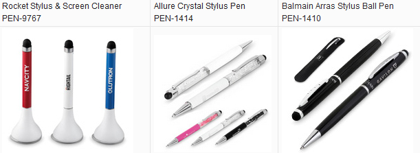 Rocket Stylus & Screen Cleaner PEN-9767; Allure Crystal Stylus Pen PEN-1414; Balmain Arras Stylus Ball Pen PEN-1410; stylus & screen cleaner; crystal stylus pen ; balmain stylus pen