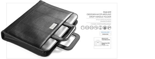 A4 zip around handle folder