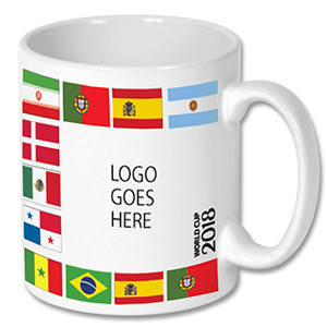 soccer mug with country flags