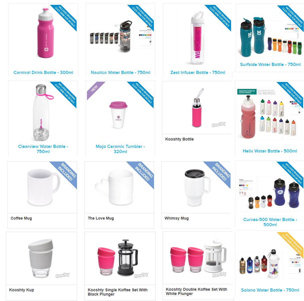 gift for women - mugs, waterbottle