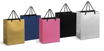 gift bags, plain gift bags