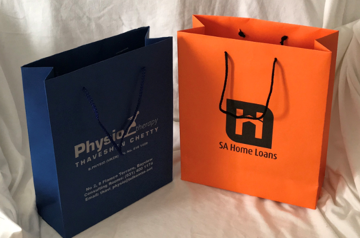Gift bag with colour screen print paper Bag manufacturer