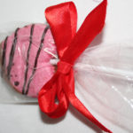 Pink Heart Shape Nougat - client gifts