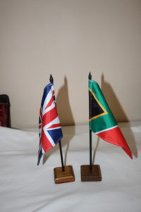 Country Desk Flags with dowel and base