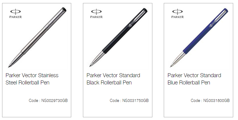 Parker Vector Stainless Steel Rollerball Pen Suppliers