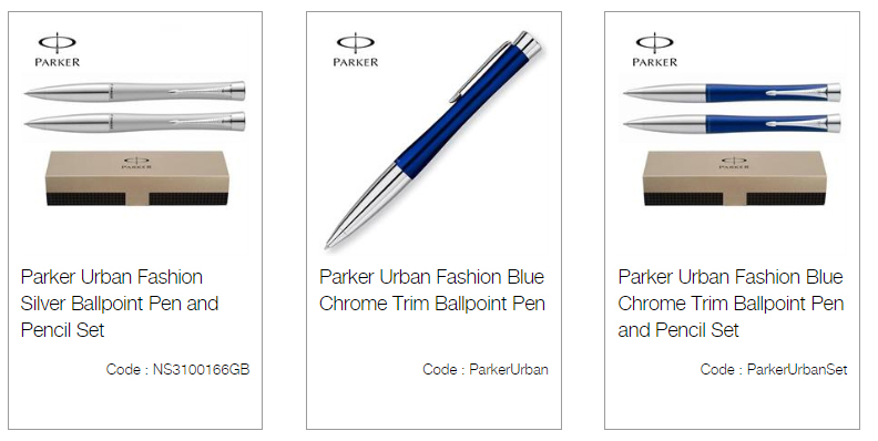 Parker Urban Fashion Silver Ballpoint Pen and Pencil set
