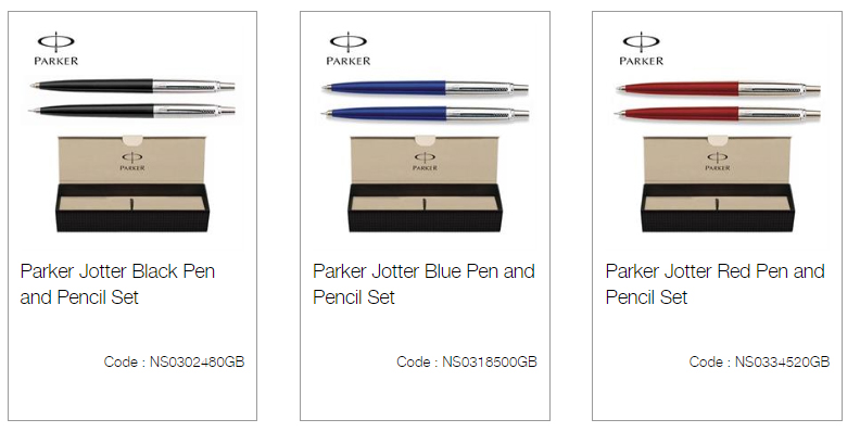 Parker Jotter Black Pen and Pencil Set