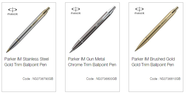 Parker IM Stainless Steel Gold Trim Ballpoint Pen