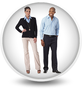 corporate mens and ladies office work wear suits
