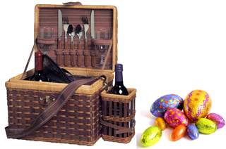 Corporate Gift - Picnic Basket and Wine Holder