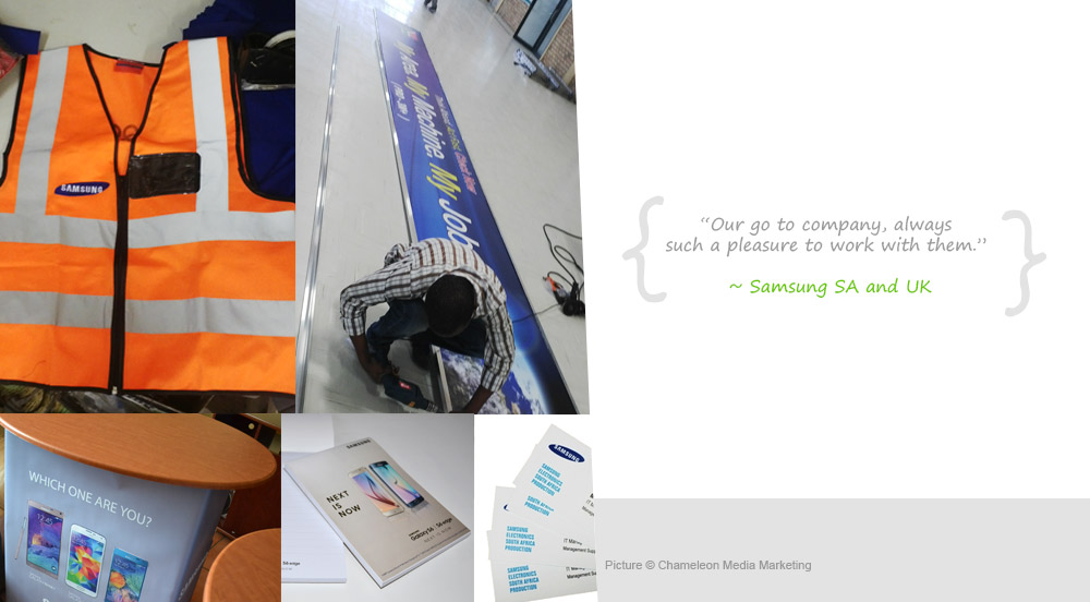 Printed Stationery, Safety Vest and Promotional Table - Safety Vest and Printed Stationery