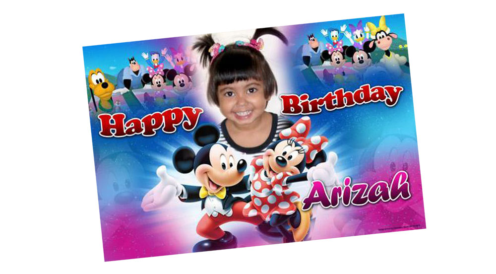 Personalised Mickey Mouse Club House Birthday Banner - Mickey Mouse Club House Birthday Banner