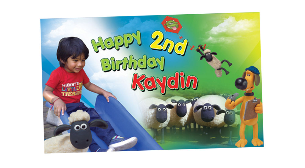 Shaun the Sheep Birthday Party Banner