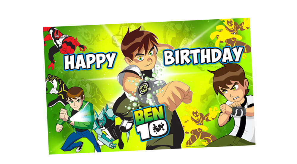 Ben 10 Birthday Party Banner