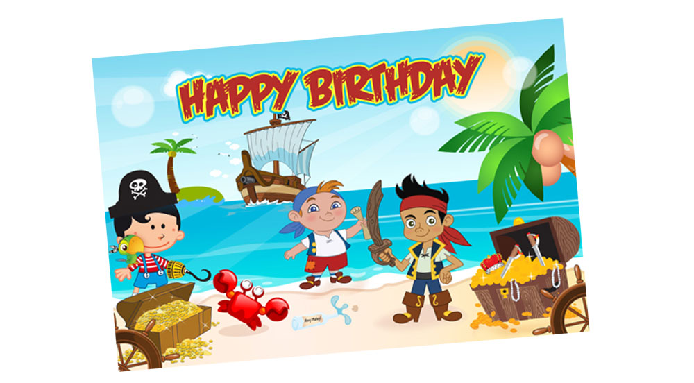 Jake the Pirate and Friends Birthday Party Banner