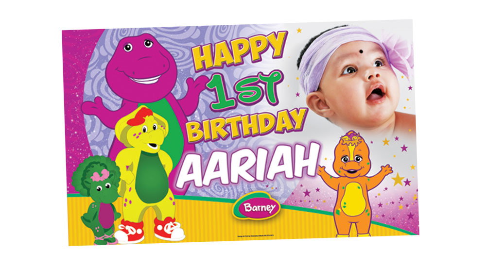 Barney and Friends Birthday Banner