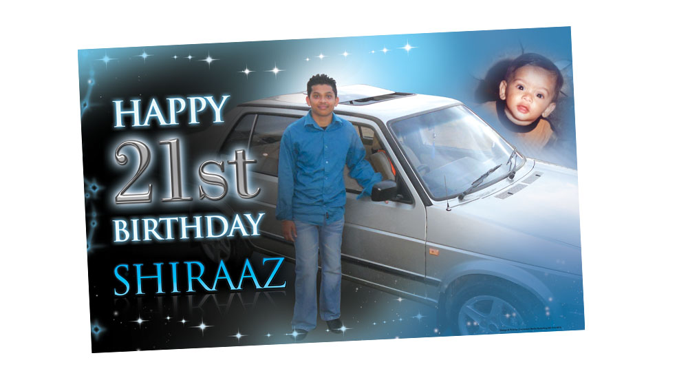 21st Birthday Party Banner