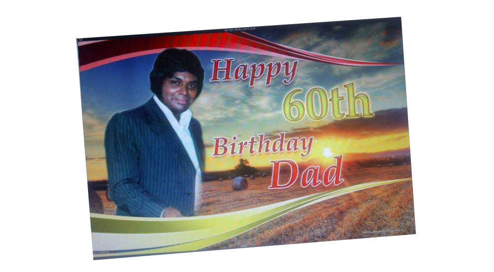 60th Birthday Party Banner