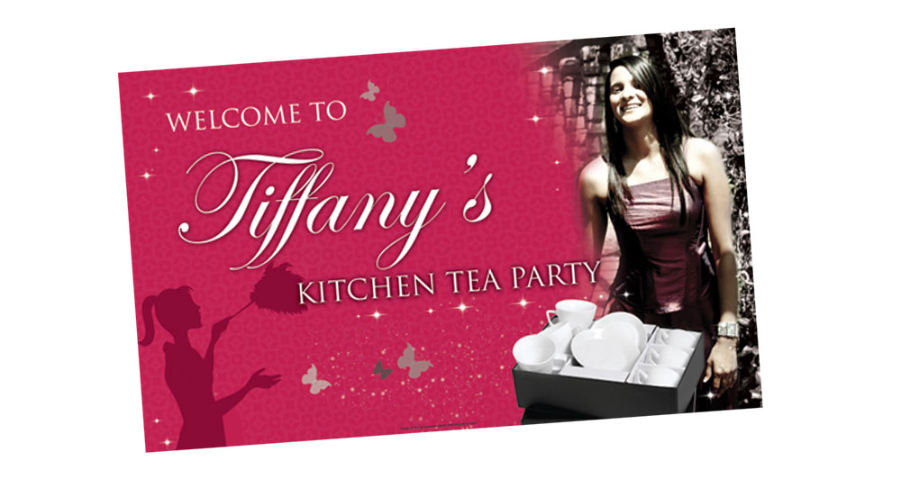 Kitchen Tea Party Banner