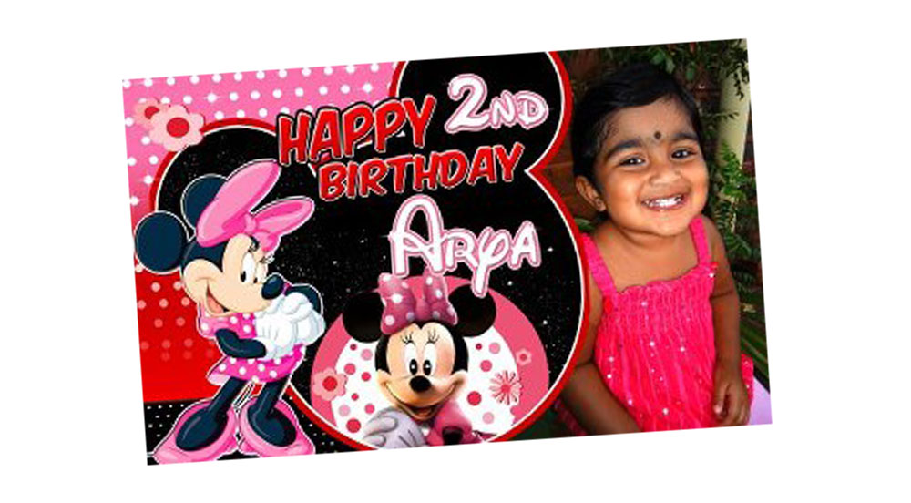 Personalised Minnie Mouse Birthday Banner