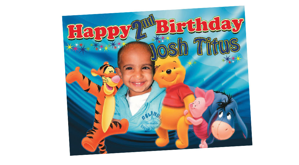 Winnie the Pooh Themed Boy's Birthday Banner  - Pooh bear and Friends Banner