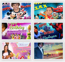 Birthday and Party Banner Gallery