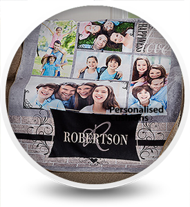 Designer Personalised Fleece Blankets, Custom Photo Blankets