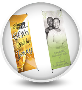 X Stand Banners for Birthday Party, Wedding and Special Events