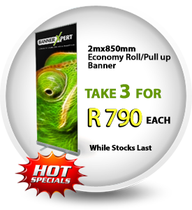 Promotional Roll Up Banner Specials Durban. Retractable and Pull Up Banner Promotions
