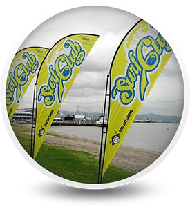 Promotional Shark Fin Flags Printing in Durban
