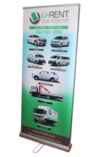 Doube sided Roll up banner, Durban, South Africa