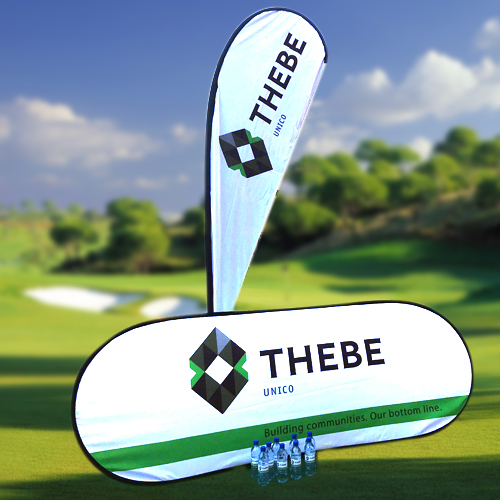 Branded bottled water and golf day banners, South Africa