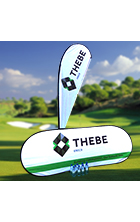 Branded bottled water and golf day banners