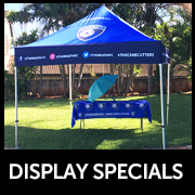 Branded Gazebo and Banner specials