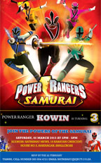 Power Rangers Invitation, Durban Design